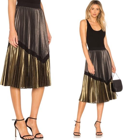 10a2b6cc8 BCBGMaxAzria Skirts | Bcbg Nwt Toni Metallic Midi Skirt | Poshmark